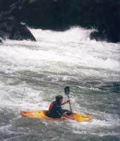 Heading for the nest rapid on the superb Quijos