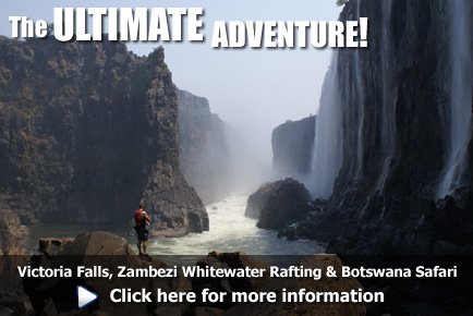 Experience Victoria Falls, Whitewater Rafting on the Zambezi and Wildlife Safari in Botswana, click here for more information