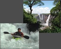 Kayaking the Zambezi