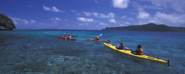Sea kayaking in Fiji
